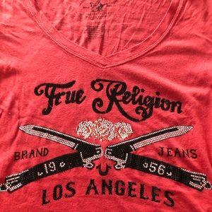 Red V- Neck T-shirt